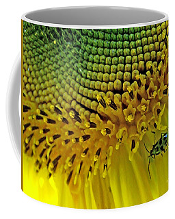 Sunflower And Beetle Coffee Mug