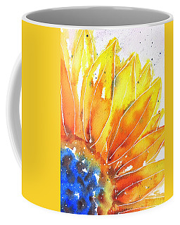 Sunflower Blue Orange And Yellow Coffee Mug