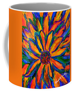 Coffee Mug featuring the painting Sunflower Burst by Kendall Kessler