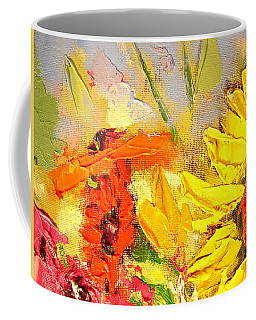 Sunflower Detail Coffee Mug by Ana Maria Edulescu