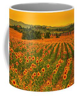 Sunflower Dream Coffee Mug by Midori Chan
