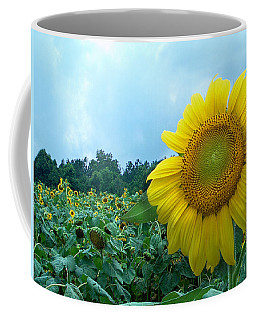 Sunflower Field Of Yellow Sunflowers By Jan Marvin Studios  Coffee Mug