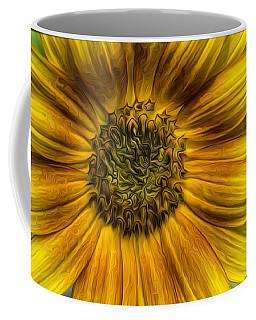 Sunflower In Oil Paint Coffee Mug