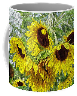 Sunflower Morn II Coffee Mug by Ecinja Art Works