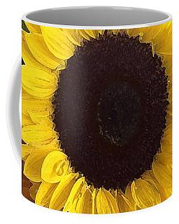 Sunflower Photo With Dry Brush Filter Coffee Mug