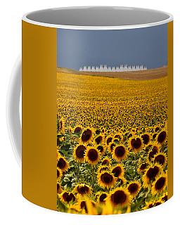 Sunflowers And Airports Coffee Mug