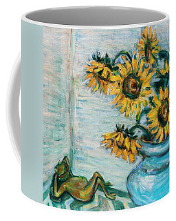 Sunflowers And Frog Coffee Mug