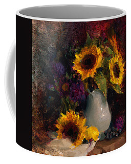 Sunflowers And Porcelain Still Life Coffee Mug