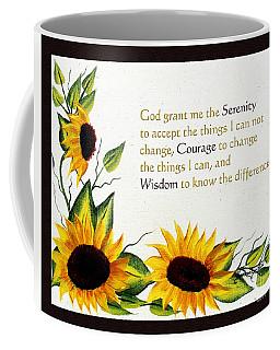 Sunflowers And Serenity Prayer Coffee Mug