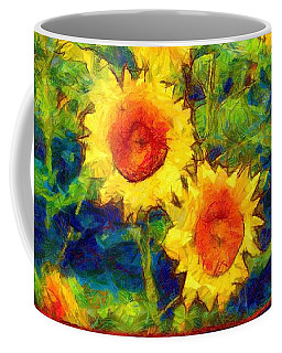 Sunflowers Dance In A Field Coffee Mug