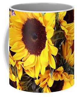 Coffee Mug featuring the photograph Sunflowers by Dora Sofia Caputo Photographic Art and Design