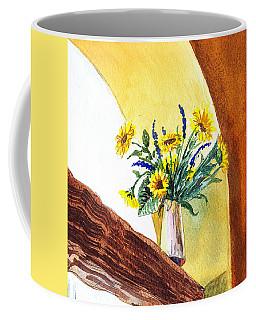 Sunflowers In A Pitcher Coffee Mug