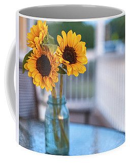 Sunflowers On The Porch Coffee Mug