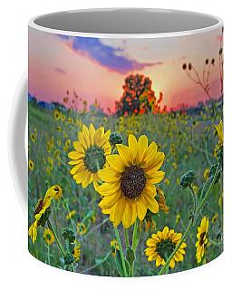 Sunflowers Sunset Coffee Mug by Gary Holmes