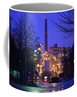 Sunila Pulp Mill By Rainy Night Coffee Mug