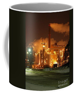 Sunila Pulp Mill By Winter Night Coffee Mug