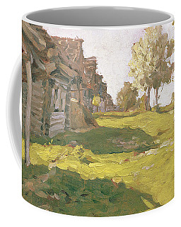 Sunlit Day  A Small Village Coffee Mug