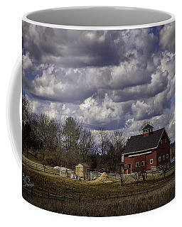 Coffee Mug featuring the photograph Sunlit Farm by Betty Denise