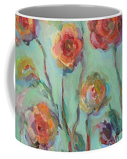 Coffee Mug featuring the painting Sunlit Garden by Mary Wolf