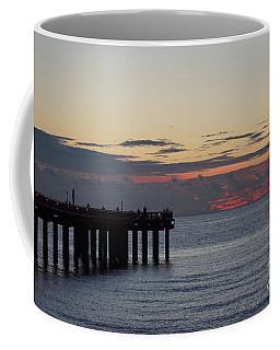 Coffee Mug featuring the photograph Sunny Isles Fishing Pier Sunrise by Rafael Salazar
