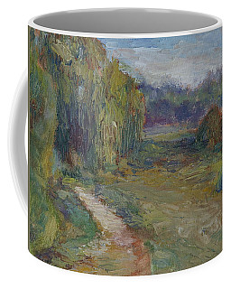 Sunny Morning In The Park -wetlands - Original - Textural Palette Knife Painting Coffee Mug by Quin Sweetman