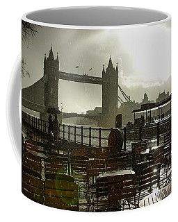 Sunny Rainstorm In London - England Coffee Mug by Georgia Mizuleva