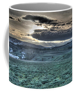 Sunrise At A Small Pond In Yellowstone Coffee Mug