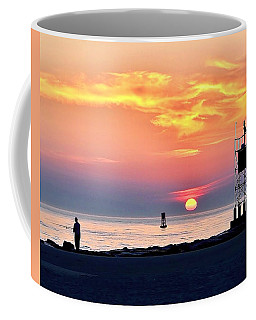Sunrise At Indian River Inlet Coffee Mug