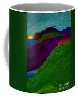 Coffee Mug featuring the painting Sunrise Castle By Jrr by First Star Art