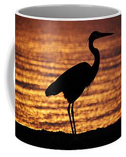 Coffee Mug featuring the photograph Sunrise Heron by Leticia Latocki
