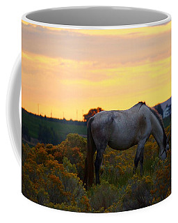 Coffee Mug featuring the photograph Sunrise Horse by Lynn Hopwood