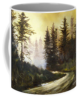 Sunrise In The Forest Coffee Mug by Lee Piper