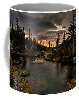 Sunrise In The Indian Peaks Coffee Mug