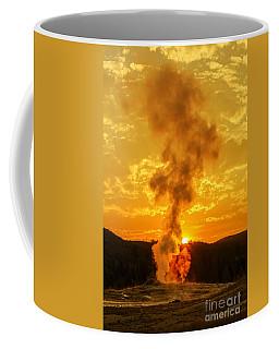 Sunrise In Yellowstone National Park Coffee Mug by Edward Fielding