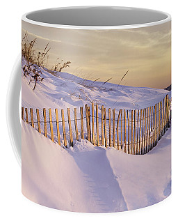 Sunrise On Beach Fence Coffee Mug