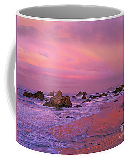 Coffee Mug featuring the photograph Sunrise On Sea Stacks Harris Sb Oregon by Dave Welling