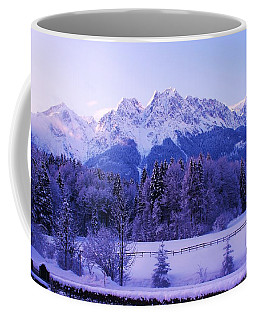 Sunrise On Snowy Mountain Coffee Mug