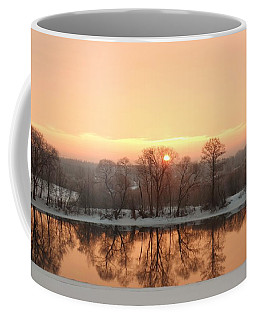 Sunrise On The Ema River Coffee Mug