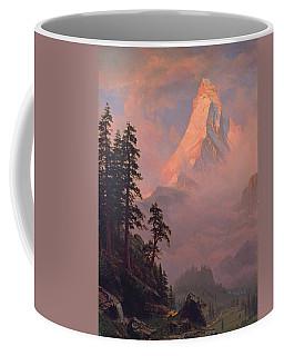 Sunrise On The Matterhorn Coffee Mug by Albert Bierstadt