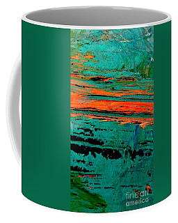 Coffee Mug featuring the painting Sunrise On The Water by Jacqueline McReynolds