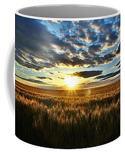 Sunrise On The Wheat Field Coffee Mug by Lynn Hopwood
