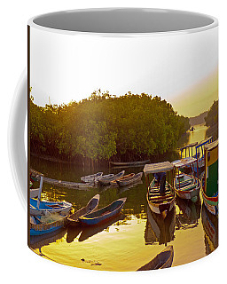 Sunrise Over Gambian Creek Coffee Mug