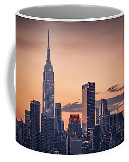 Manhattan Sunrise Coffee Mug by Eduard Moldoveanu
