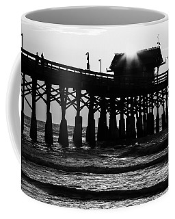 Sunrise Over Pier Coffee Mug
