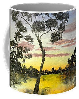 Sunrise Over The Murray River At Lowson South Australia Coffee Mug