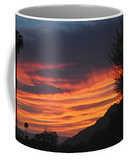 Sunrise With Lone Sentinel Over Desert Coffee Mug