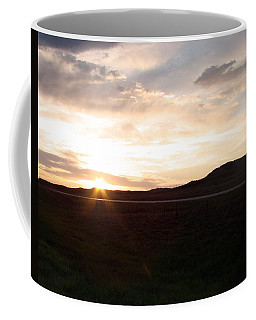 Coffee Mug featuring the photograph Sunset Across I 90 by Cathy Anderson