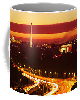 Sunset, Aerial, Washington Dc, District Coffee Mug