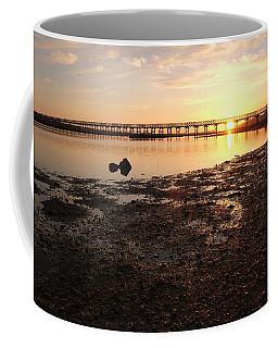 Sunset And Wooden Bridge In Ludo Coffee Mug