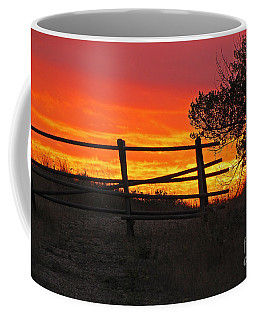 Coffee Mug featuring the photograph Sunset At Bear Butte by Mary Carol Story